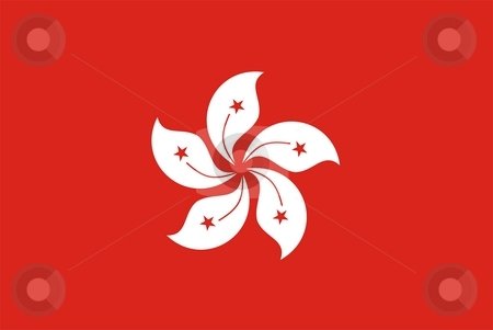 Flag Of Hong Kong stock photo, 2D illustration of the flag of Hong Kong by Tudor Antonel adrian