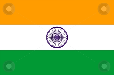 Flag Of India stock photo, 2D illustration of the flag of India by Tudor Antonel adrian