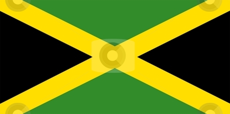 Flag Of Jamaica stock photo, 2D illustration of the flag of Jamaica by Tudor Antonel adrian