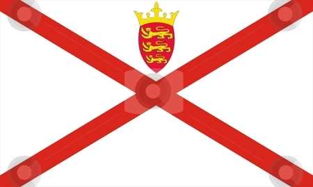 Flag Of Jersey stock photo, 2D illustration of the flag of Jersey by Tudor Antonel adrian