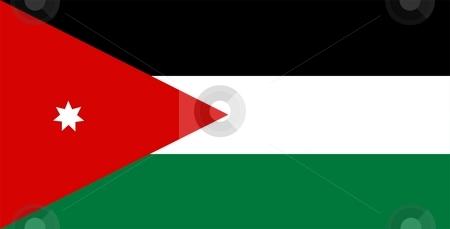 Flag Of Jordan stock photo, 2D illustration of the flag of Jordan by Tudor Antonel adrian