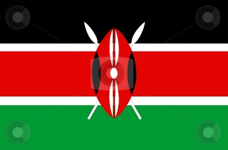 Flag Of Kenya stock photo, 2D illustration of the flag of Kenya by Tudor Antonel adrian