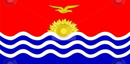 Flag Of Kiribati stock photo, 2D illustration of the flag of Kiribati by Tudor Antonel adrian