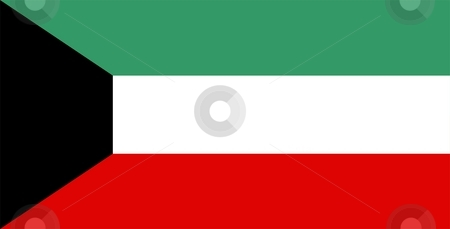 Flag Of Kuwait stock photo, 2D illustration of the flag of Kuwait by Tudor Antonel adrian