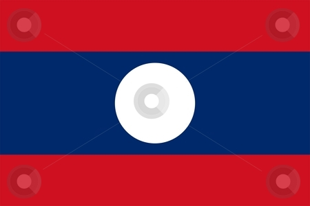 Flag Of laos stock photo, 2D illustration of the flag of laos by Tudor Antonel adrian