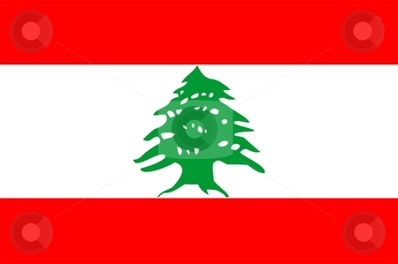 Flag Of Lebanon stock photo, 2D illustration of the flag of Lebanon by Tudor Antonel adrian