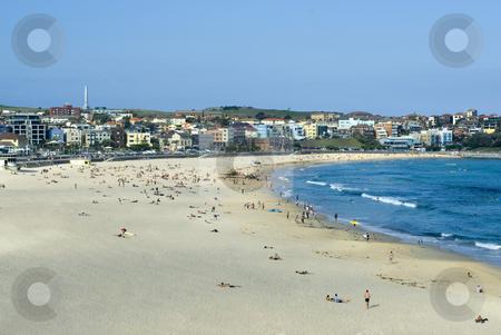 Bondi beach stock photo, Sun and sand, bondi beach in Sydney, Australia by Stephen Gibson