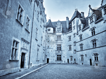 Castle of Pau stock photo, Castle of Pau birthplace of Henry IV King of France and Navarre by Laurent Dambies