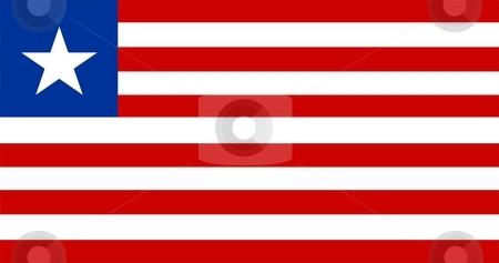 Flag Of Liberia stock photo, 2D illustration of the flag of Liberia by Tudor Antonel adrian