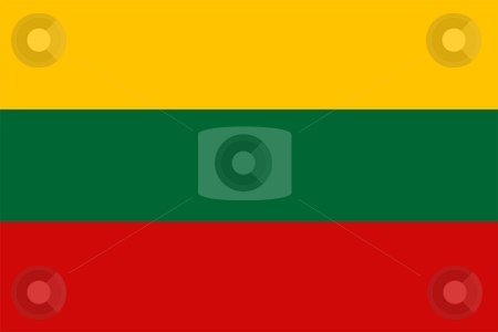 Flag Of lithuania stock photo, 2D illustration of the flag of lithuania by Tudor Antonel adrian
