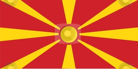 Flag Of Macedonia stock photo, 2D illustration of the flag of Macedonia by Tudor Antonel adrian