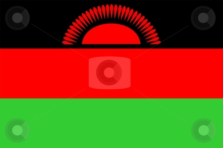 Flag Of Malawi stock photo, 2D illustration of the flag of Malawi by Tudor Antonel adrian
