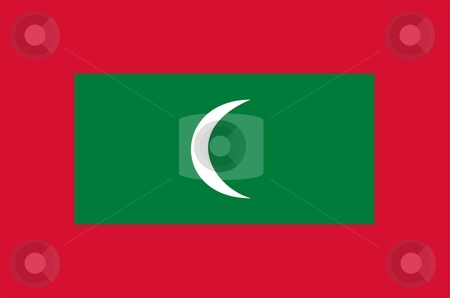 Flag Of Maldives stock photo, 2D illustration of the flag of Maldives by Tudor Antonel adrian