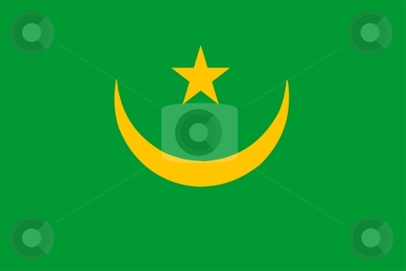 Flag Of Mauritania stock photo, 2D illustration of the flag of Mauritania by Tudor Antonel adrian