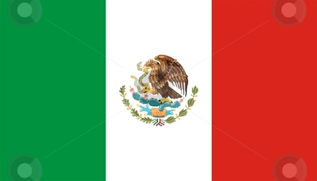 Flag Of Mexico stock photo, 2D illustration of the flag of Mexico by Tudor Antonel adrian