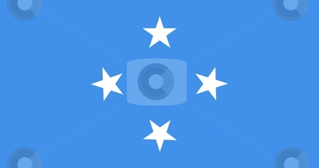 Flag Of Micronesia stock photo, 2D illustration of the flag of Micronesia by Tudor Antonel adrian