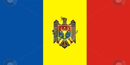 Flag Of Moldova stock photo, 2D illustration of the flag of Moldova by Tudor Antonel adrian