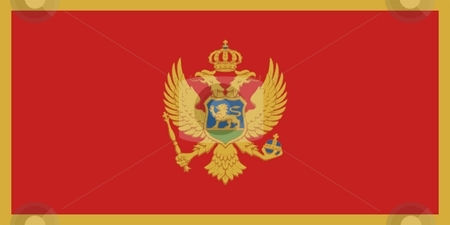 Flag Of Montenegro stock photo, 2D illustration of the flag of Montenegro by Tudor Antonel adrian