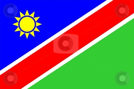 Namibia Flag stock photo, 2D illustration of the flag of Namibia vector by Tudor Antonel adrian