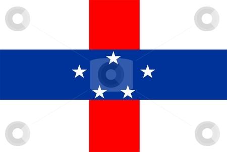 Flag Of Netherlands Antilles stock photo, 2D illustration of the flag of Netherlands Antilles by Tudor Antonel adrian