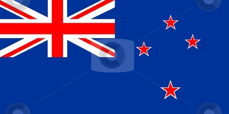 Flag Of New Zealand stock photo, 2D illustration of the flag of New Zealand by Tudor Antonel adrian