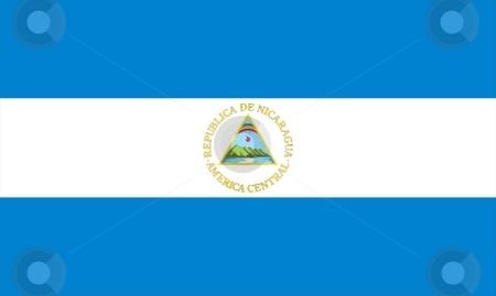 Flag Of Nicaragua stock photo, 2D illustration of the flag of Nicaragua by Tudor Antonel adrian