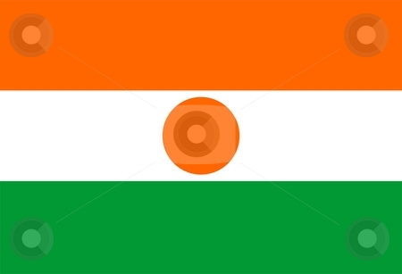 Flag Of Niger stock photo, 2D illustration of the flag of Niger by Tudor Antonel adrian