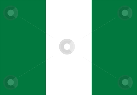 Flag Of Nigeria stock photo, 2D illustration of the flag of Nigeria by Tudor Antonel adrian