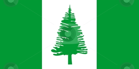 Norfolk Island Flag stock photo, 2D illustration of the flag of Norfolk Island by Tudor Antonel adrian