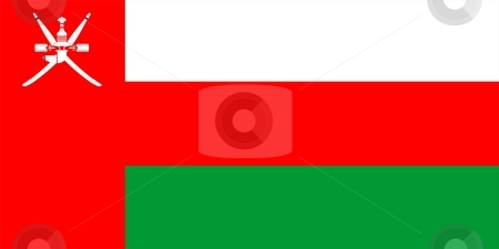 Flag Of Oman stock photo, 2D illustration of the flag of Oman by Tudor Antonel adrian