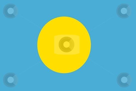 Flag Of Palau stock photo, 2D illustration of the flag of Palau by Tudor Antonel adrian