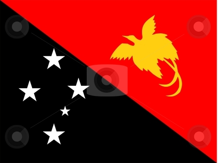 Papua New Guinea Flag stock photo, 2D illustration of the flag of Papua New Guinea vector by Tudor Antonel adrian