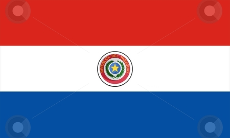 Flag Of Paraguay stock photo, 2D illustration of the flag of Paraguay by Tudor Antonel adrian