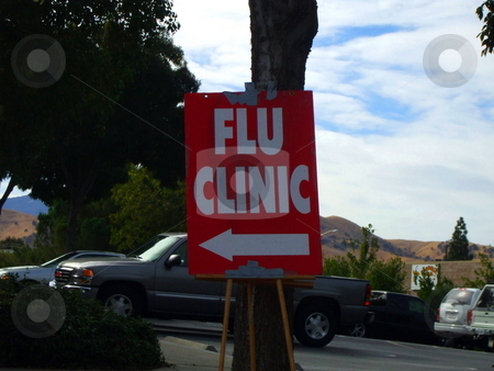 Flu Clinic Sign stock photo,  by Michael Felix