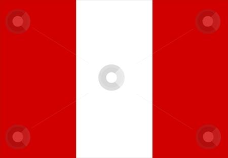 Flag Of Peru stock photo, 2D illustration of the flag of Peru by Tudor Antonel adrian