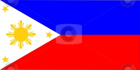 Philippines Flag stock photo, 2D illustration of the flag of Philippines vector by Tudor Antonel adrian