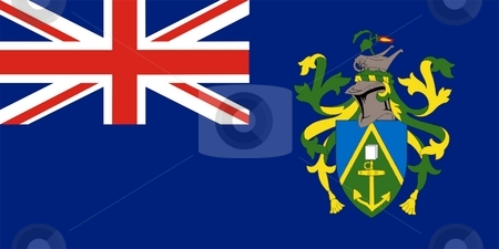 Flag Of Pitcairn Islands stock photo, 2D illustration of the flag of Pitcairn Islands by Tudor Antonel adrian