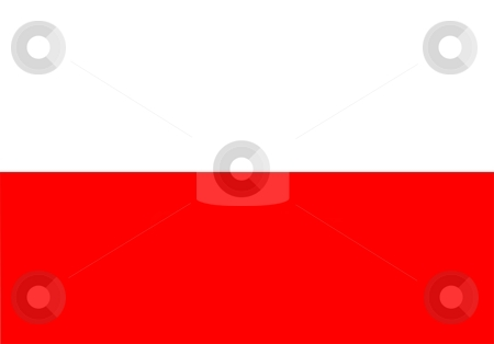 Flag Of Poland stock photo, 2D illustration of the flag of Poland by Tudor Antonel adrian