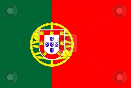 Flag Of Portugal stock photo, 2D illustration of the flag of Portugal by Tudor Antonel adrian