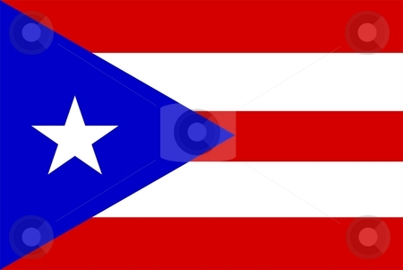 Flag Of Puerto Rico stock photo, 2D illustration of the flag of Puerto Rico by Tudor Antonel adrian