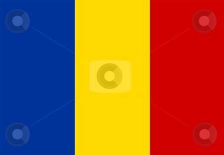 Flag Of Romania stock photo, 2D illustration of the flag of Romania by Tudor Antonel adrian
