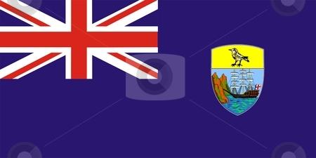 Flag Of Saint Helena stock photo, 2D illustration of the flag of Saint Helena by Tudor Antonel adrian