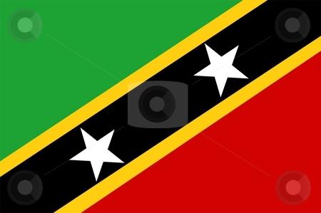 Flag Of Saint Kitts And Nevis stock photo, 2D illustration of the flag of Saint Kitts And Nevis by Tudor Antonel adrian