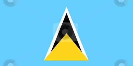 Flag Of Saint Lucia stock photo, 2D illustration of the flag of Saint Lucia by Tudor Antonel adrian