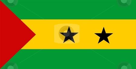 Flag Of Sao Tome And Principe stock photo, 2D illustration of the flag of Sao Tome And Principe by Tudor Antonel adrian