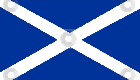Flag Of Scotland stock photo, 2D illustration of the flag of Scotland by Tudor Antonel adrian