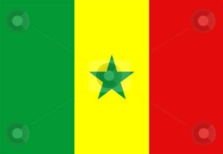 Flag Of Senegal stock photo, 2D illustration of the flag of Senegal by Tudor Antonel adrian