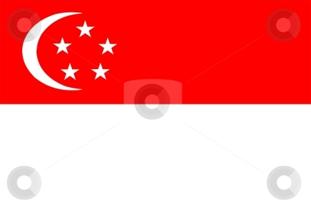 Flag Of Singapore stock photo, 2D illustration of the flag of Singapore by Tudor Antonel adrian