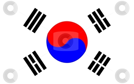 South Korea Flag stock photo, 2D illustration of the flag of South Korea vector by Tudor Antonel adrian