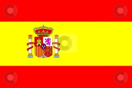 Flag Of Spain stock photo, 2D illustration of the flag of Spain by Tudor Antonel adrian